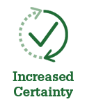 Increased Certainty Icon for Loan Quality Connect (LQC)