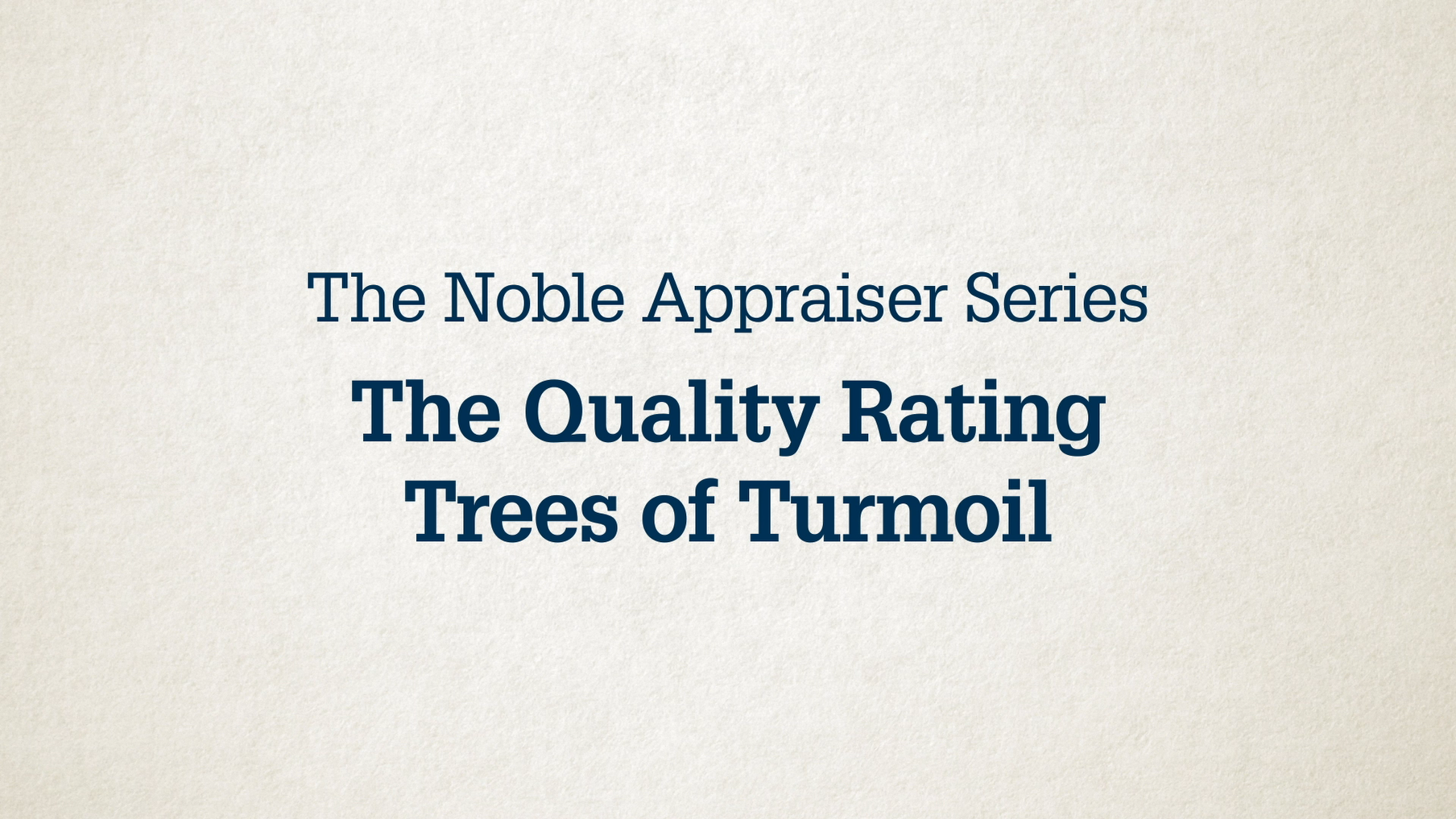 appraisers noble series quality video image