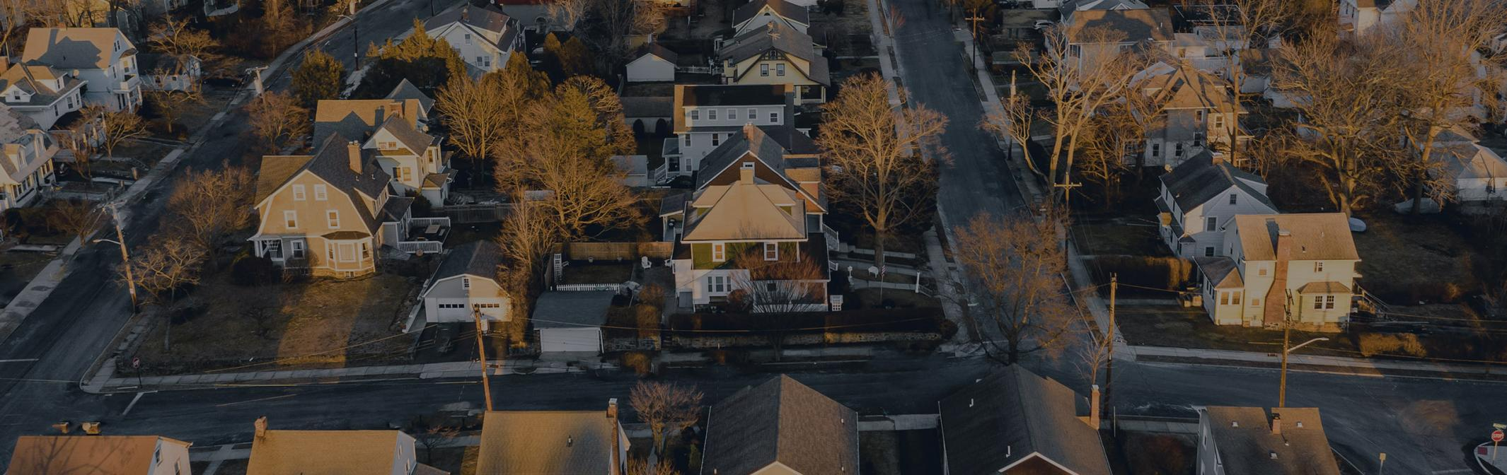 New England homes from above